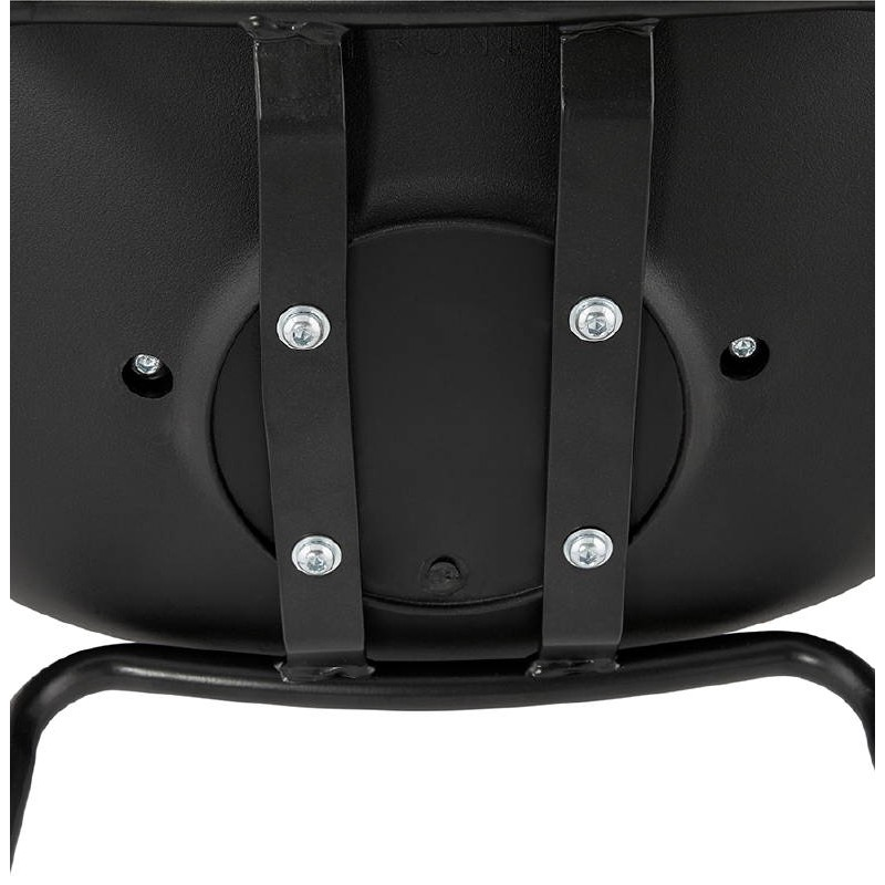 Bar bar halfway up industrial OCEANE MINI (black) chair stool - image 37394