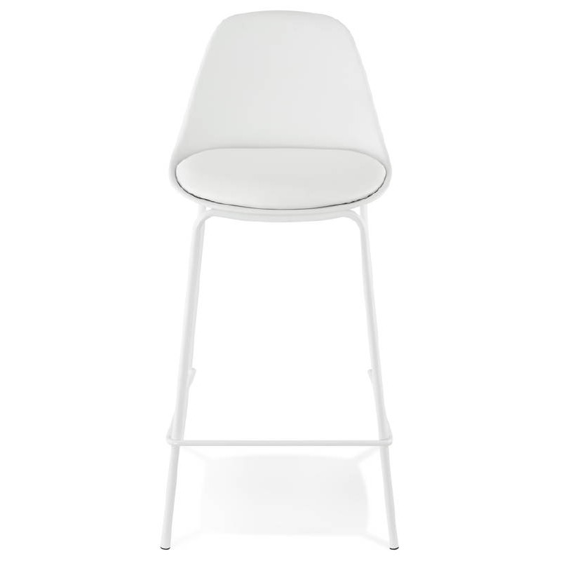 Bar bar halfway up industrial OCEANE MINI (white) chair stool - image 37396