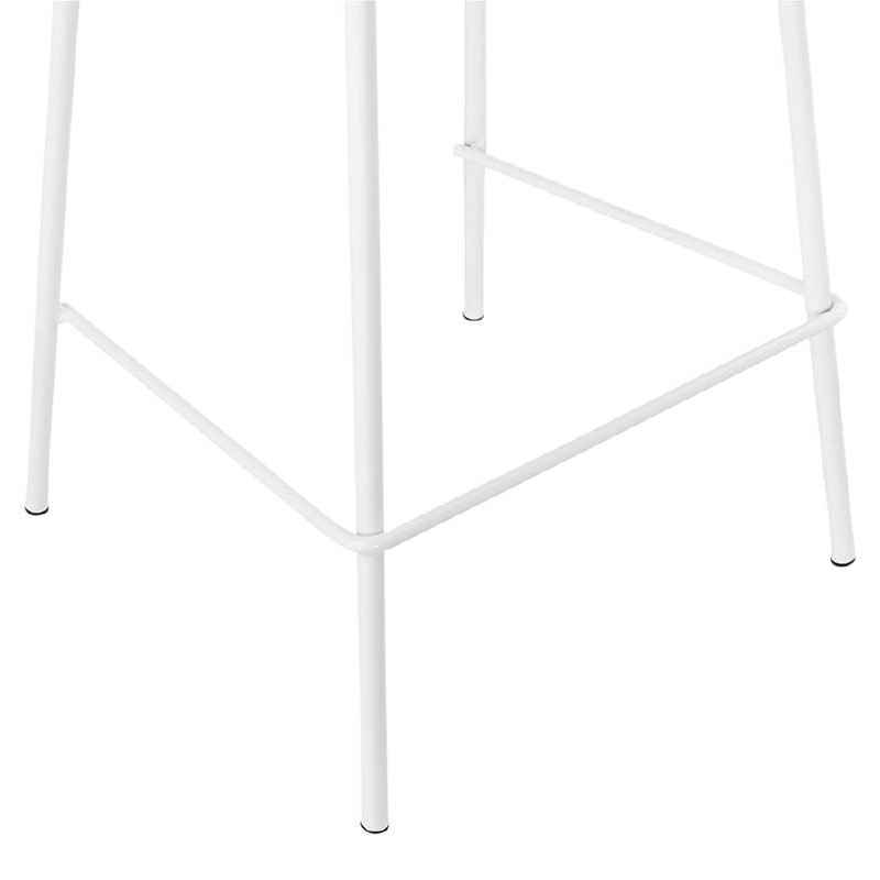 Bar bar halfway up industrial OCEANE MINI (white) chair stool - image 37403