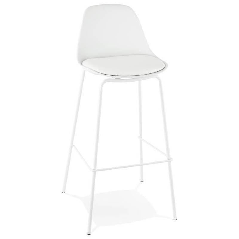 Tabouret de bar chaise de bar industriel OCEANE (blanc) - image 37420
