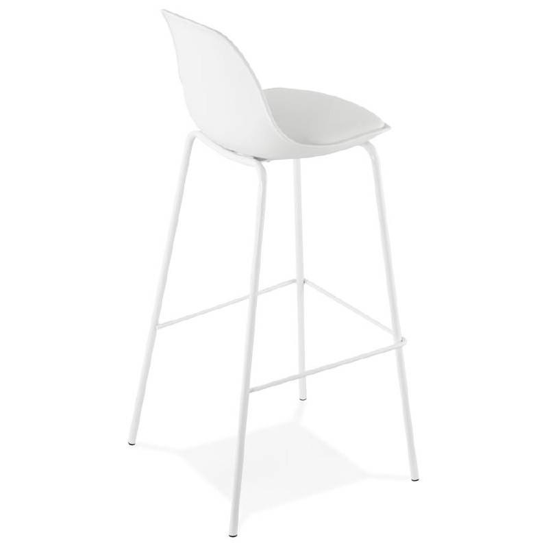 Tabouret de bar chaise de bar industriel OCEANE (blanc) - image 37423