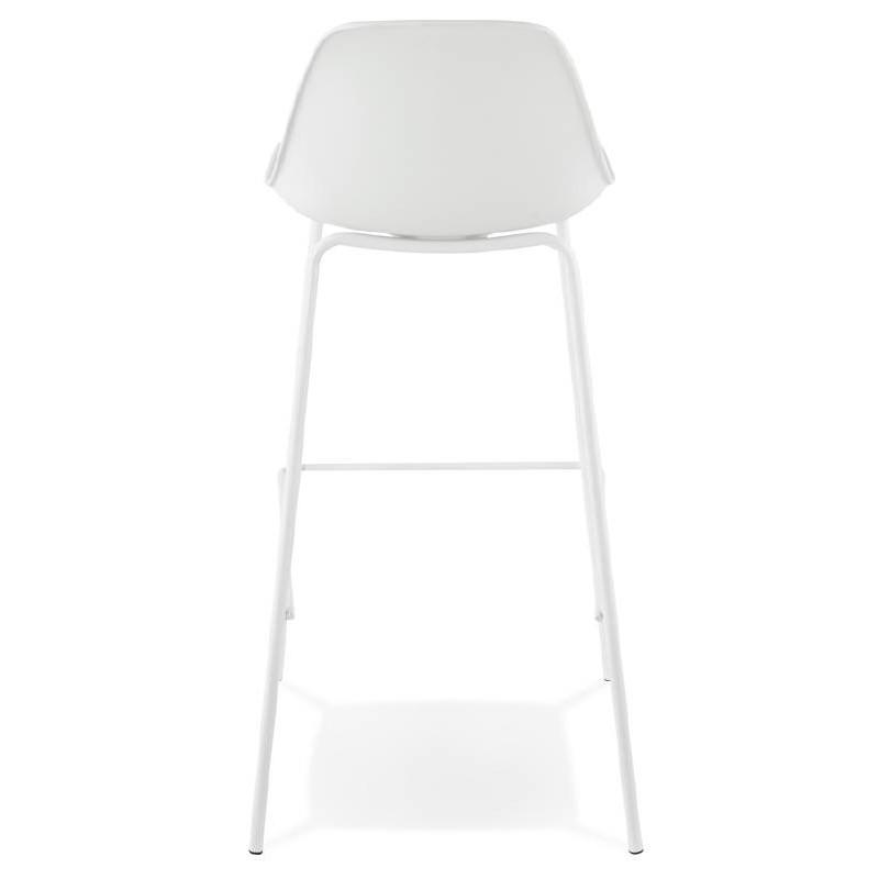 Tabouret de bar chaise de bar industriel OCEANE (blanc) - image 37424