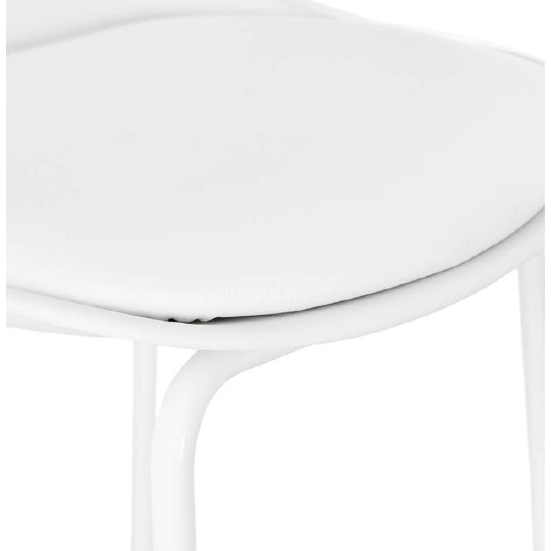 Tabouret de bar chaise de bar industriel OCEANE (blanc) - image 37426