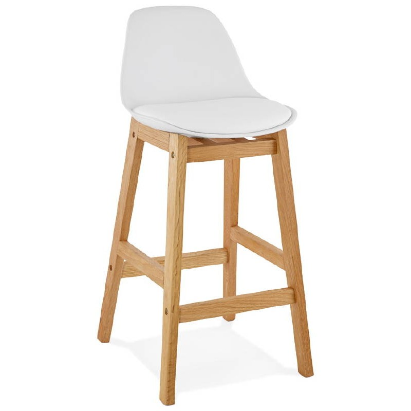 bar bar scandinavian design mid height florence mini white chair stool