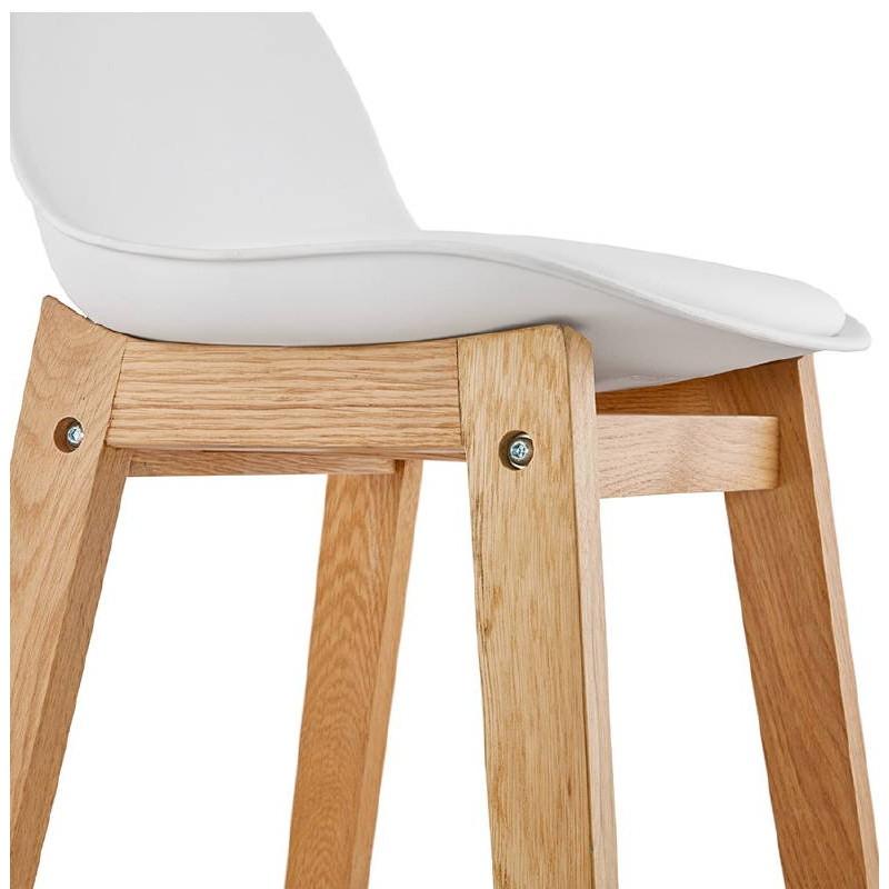Tabouret de bar chaise de bar mi-hauteur design scandinave FLORENCE MINI (blanc) - image 37440