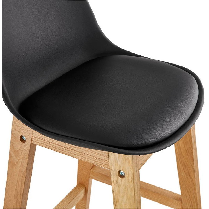 tabouret de bar chaise de bar mi hauteur design scandinave florence mini noir. Black Bedroom Furniture Sets. Home Design Ideas