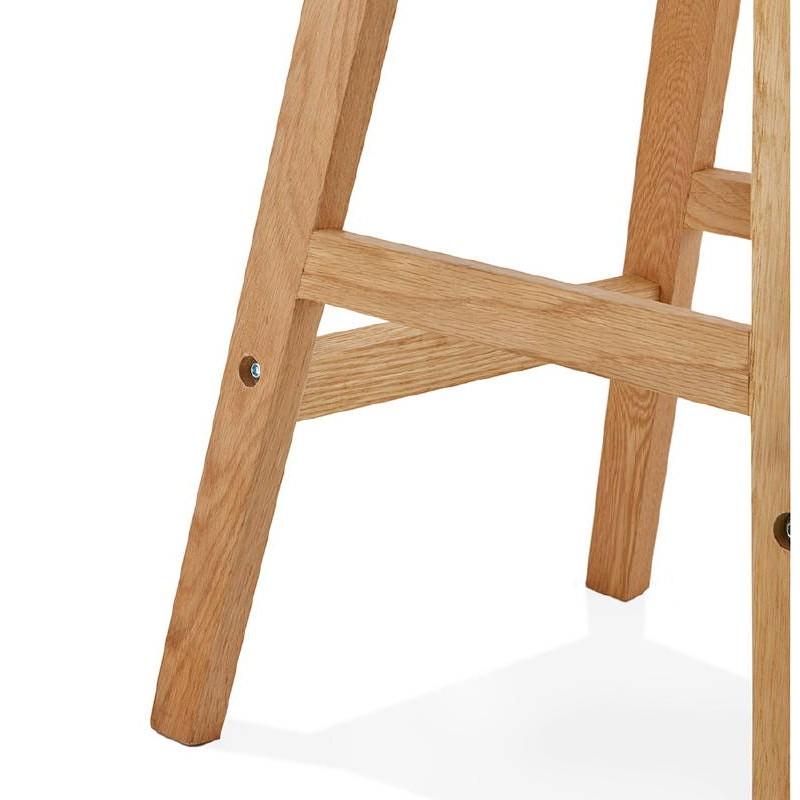 Tabouret de bar chaise de bar mi-hauteur design scandinave FLORENCE MINI (noir) - image 37453