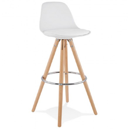OCTAVE Scandinavian design bar stool (white)