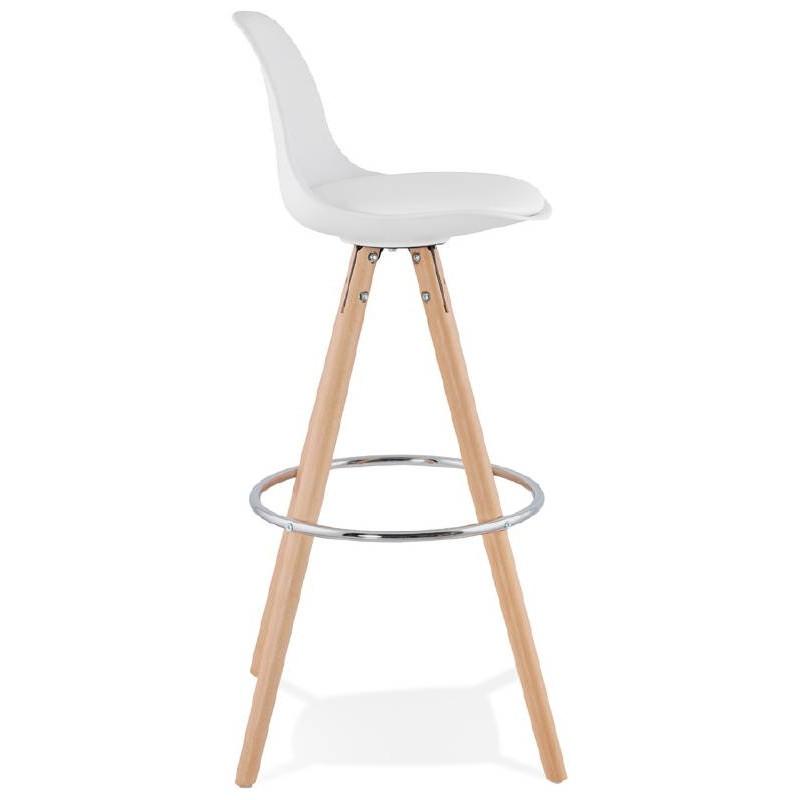 tabouret de bar design scandinave octave blanc. Black Bedroom Furniture Sets. Home Design Ideas