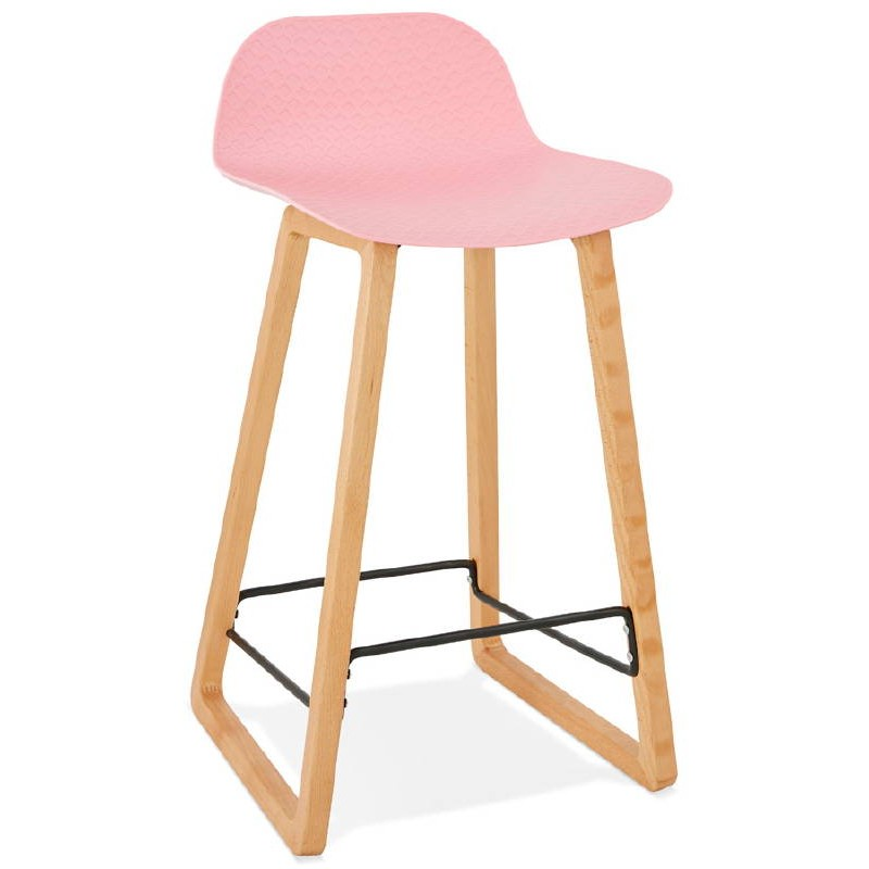 tabouret de bar chaise de bar mi hauteur scandinave scarlett mini rose poudr. Black Bedroom Furniture Sets. Home Design Ideas