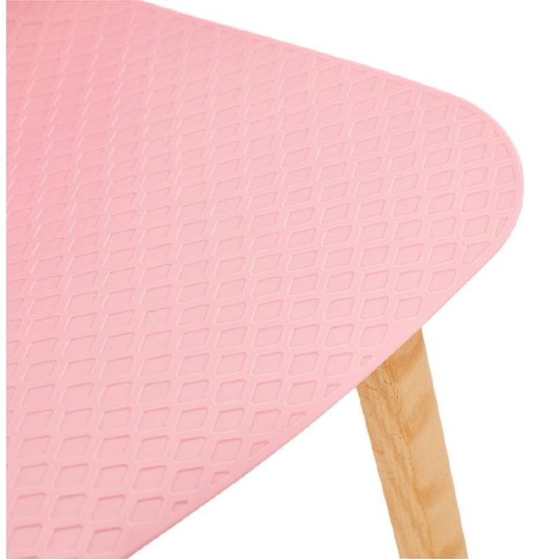 Tabouret de bar chaise de bar mi-hauteur scandinave SCARLETT MINI (rose poudré) - image 37489