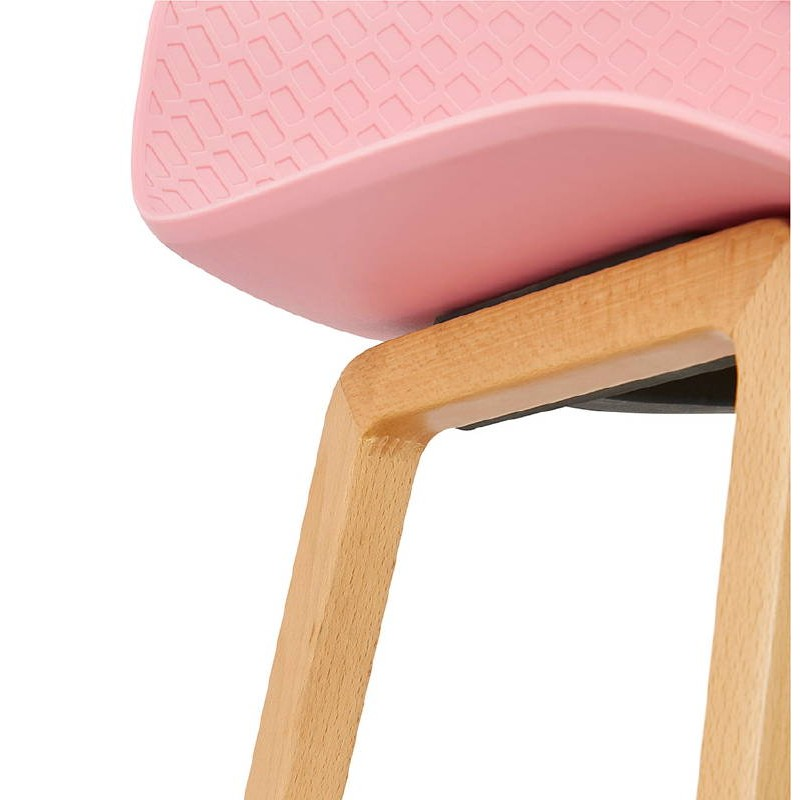 Tabouret de bar chaise de bar mi-hauteur scandinave SCARLETT MINI (rose poudré) - image 37491