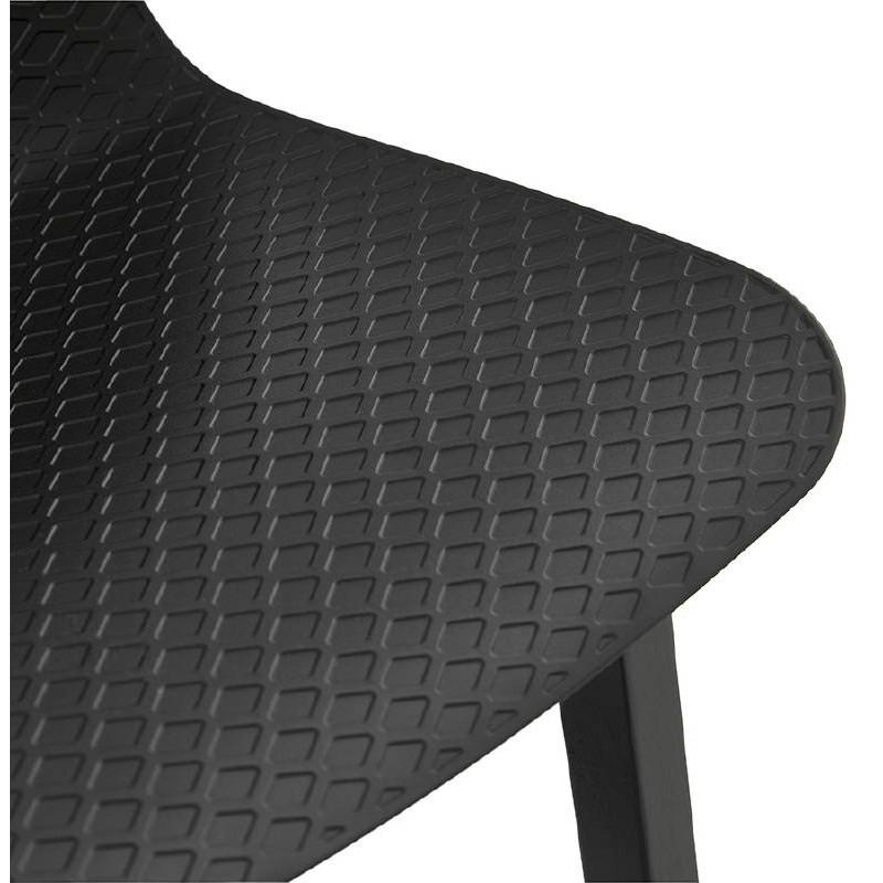 Tabouret de bar chaise de bar mi-hauteur design OBELINE MINI (noir) - image 37516