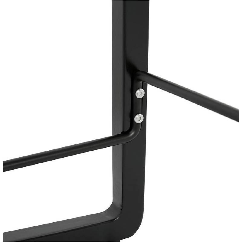 Tabouret de bar chaise de bar mi-hauteur design OBELINE MINI (noir) - image 37521