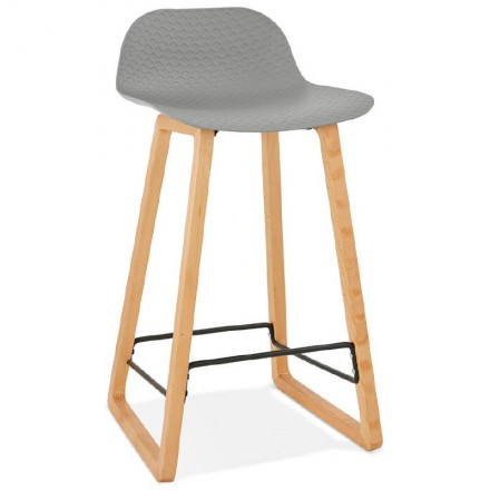 Scandinavian mid-height SCARLETT MINI bar Chair bar stool (light gray)