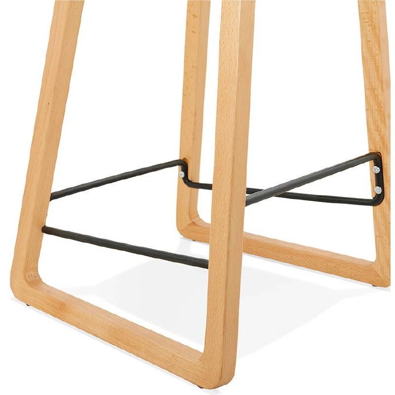 Tabouret de bar chaise de bar mi-hauteur scandinave SCARLETT MINI (gris clair) - image 37533