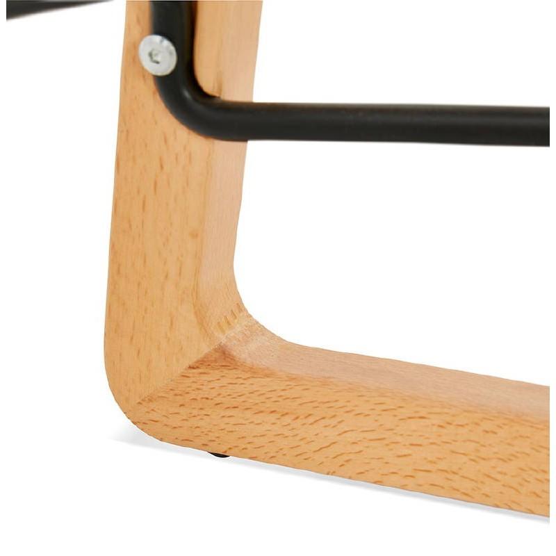 Tabouret de bar chaise de bar mi-hauteur scandinave SCARLETT MINI (gris clair) - image 37536