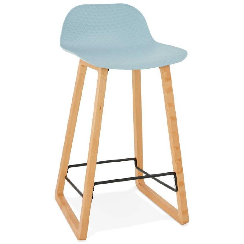 Tabouret de bar chaise de bar mi-hauteur scandinave SCARLETT MINI (bleu ciel) - image 37538