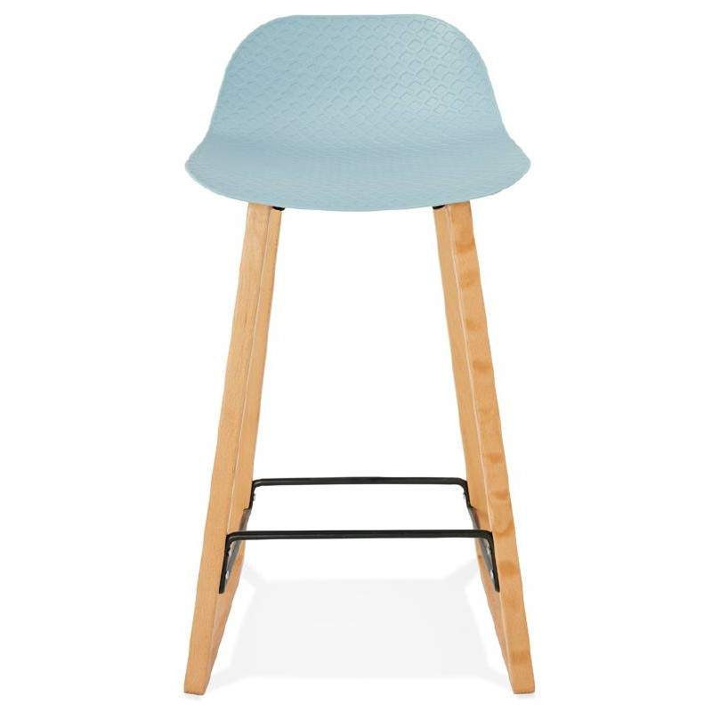 tabouret de bar chaise de bar mi hauteur scandinave scarlett mini bleu ciel. Black Bedroom Furniture Sets. Home Design Ideas