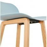 Tabouret de bar chaise de bar mi-hauteur scandinave SCARLETT MINI (bleu ciel)