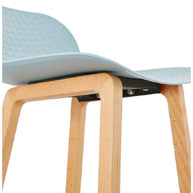 Tabouret de bar chaise de bar mi-hauteur scandinave SCARLETT MINI (bleu ciel) - image 37545