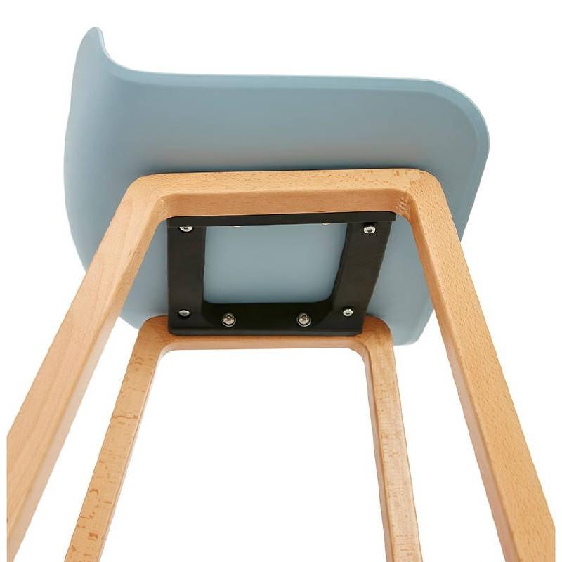tabouret de bar chaise de bar mi hauteur scandinave scarlett mini bleu ciel. Black Bedroom Furniture Sets. Home Design Ideas