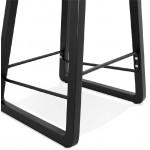 Tabouret de bar chaise de bar mi-hauteur design OBELINE MINI (blanc)
