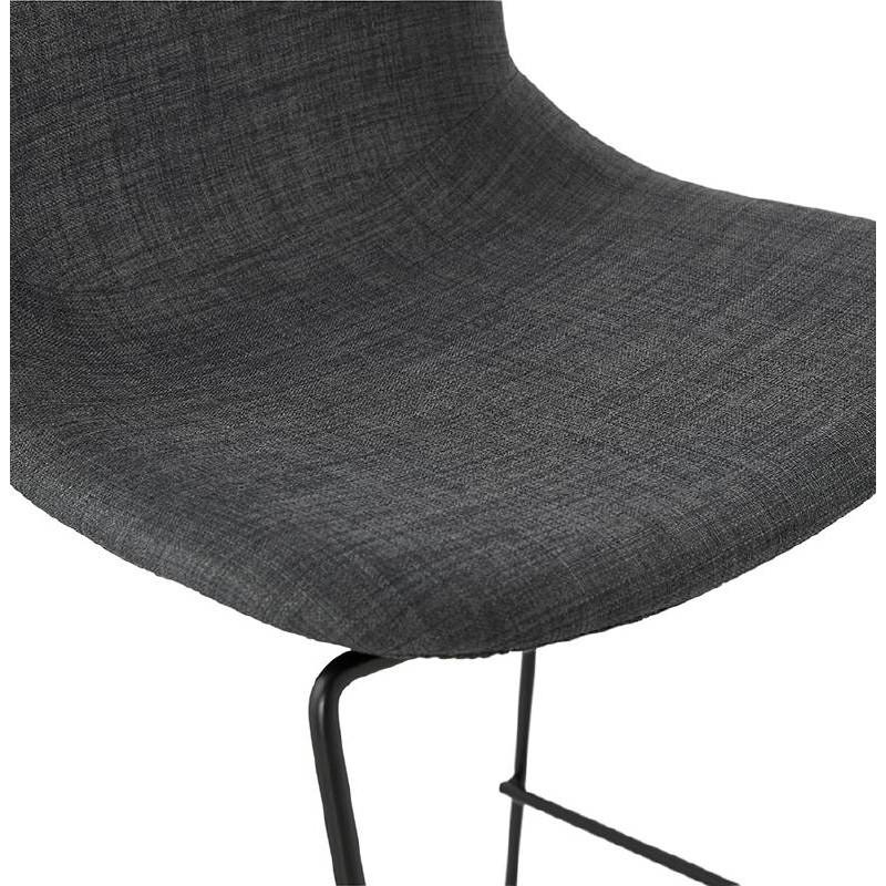 tabouret de bar chaise de bar mi hauteur design empilable doly mini en tissu gris fonc. Black Bedroom Furniture Sets. Home Design Ideas