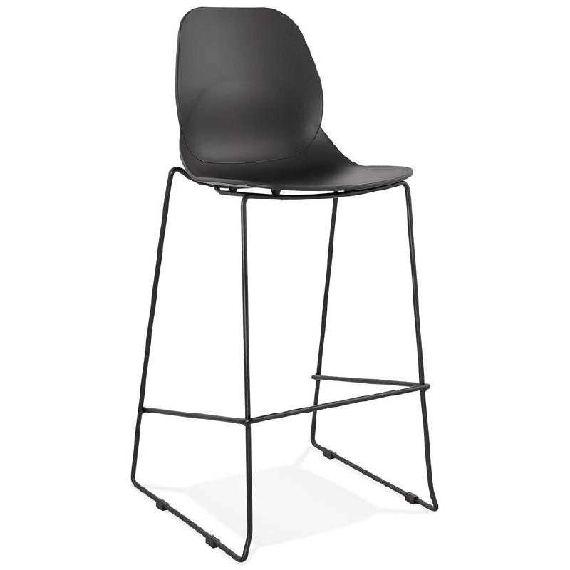 Tabouret de bar chaise de bar industriel empilable JULIETTE (noir) - image 37578