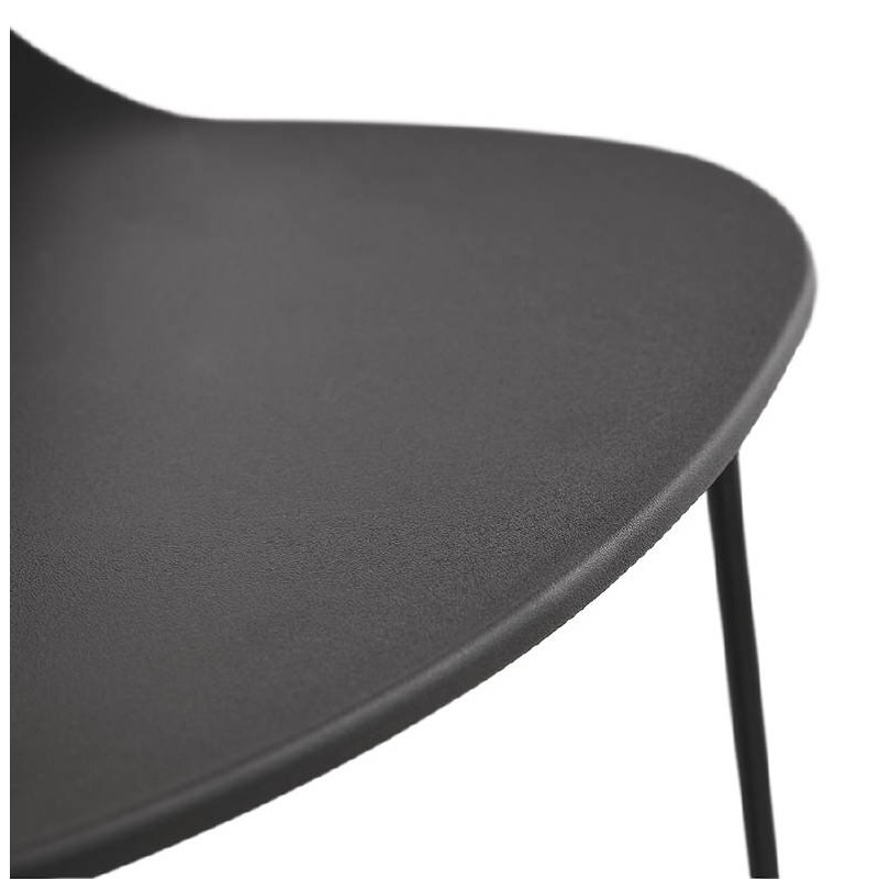 Tabouret de bar chaise de bar industriel empilable JULIETTE (noir) - image 37585