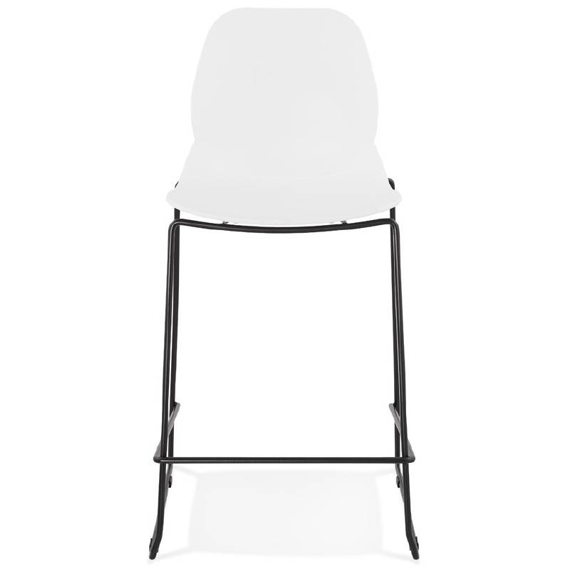 Tabouret de bar chaise de bar industriel mi-hauteur empilable JULIETTE MINI (blanc) - image 37606