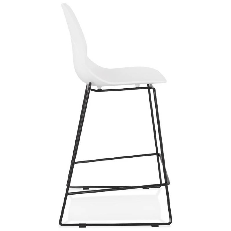 Tabouret de bar chaise de bar industriel mi-hauteur empilable JULIETTE MINI (blanc) - image 37607