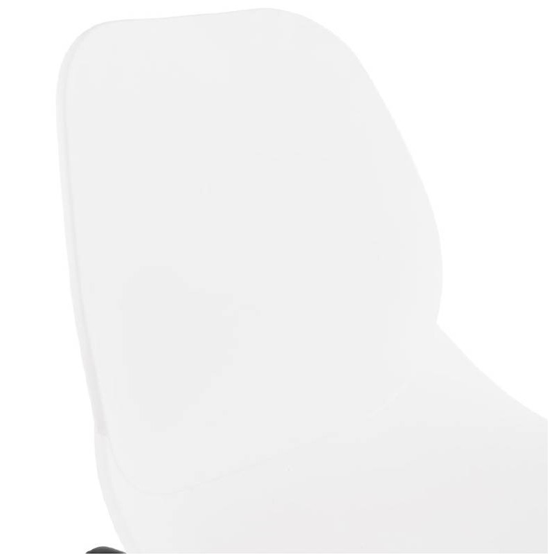 Tabouret de bar chaise de bar industriel mi-hauteur empilable JULIETTE MINI (blanc) - image 37611