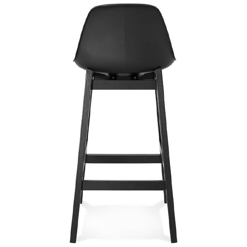 tabouret de bar chaise de bar mi hauteur design jack mini noir. Black Bedroom Furniture Sets. Home Design Ideas