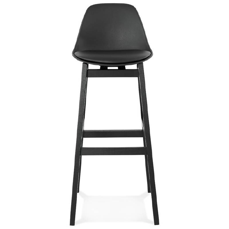 Tabouret de bar chaise de bar design JACK (noir) - image 37631