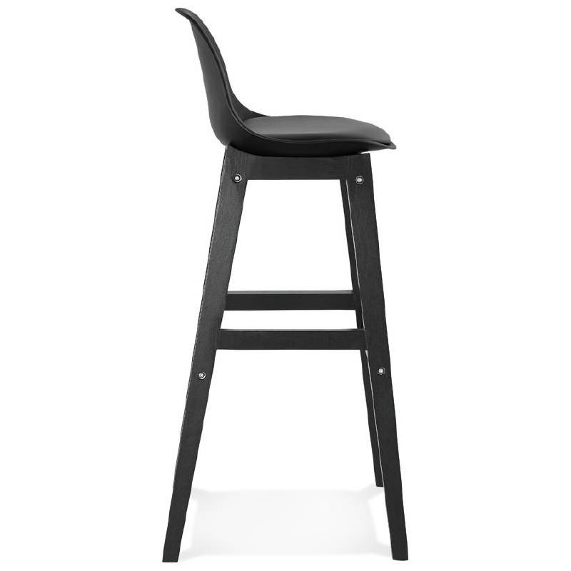 Tabouret de bar chaise de bar design JACK (noir) - image 37632