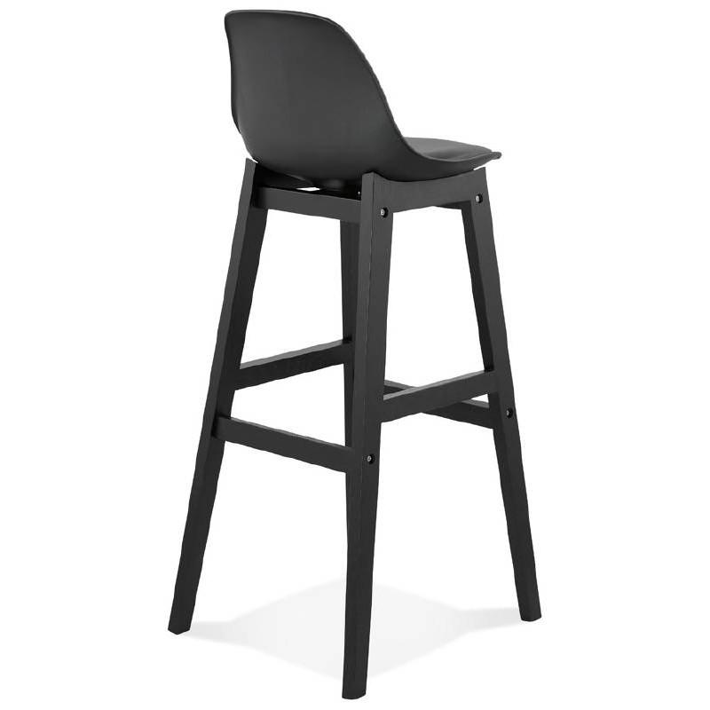 Tabouret de bar chaise de bar design JACK (noir) - image 37633