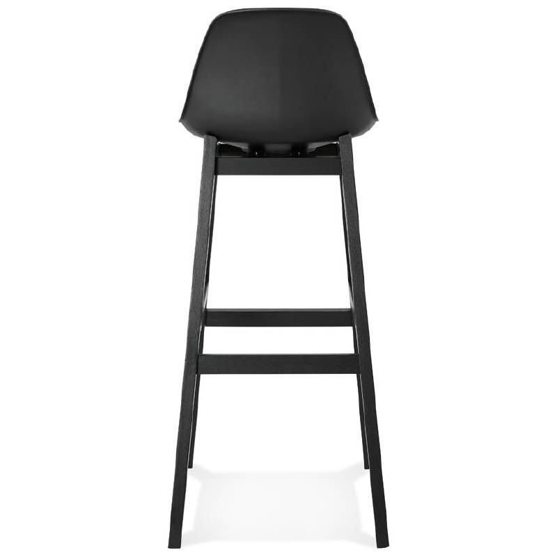 Tabouret de bar chaise de bar design JACK (noir) - image 37634