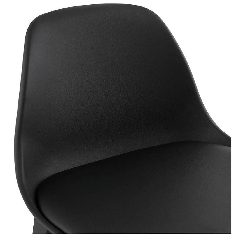 Tabouret de bar chaise de bar design JACK (noir) - image 37636