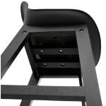 Tabouret de bar chaise de bar design JACK (noir)
