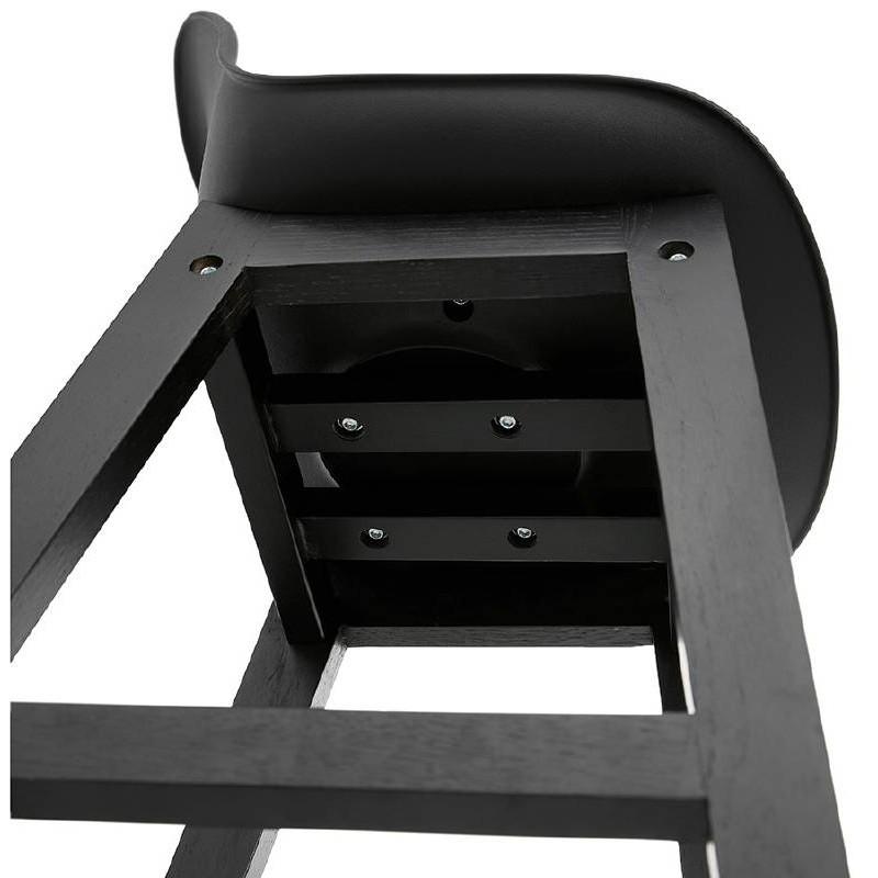 Tabouret de bar chaise de bar design JACK (noir) - image 37640