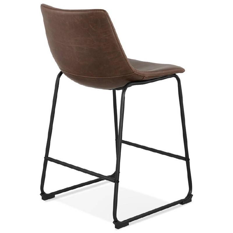 Tabouret de bar chaise de bar mi-hauteur vintage JOE MINI (marron) - image 37645