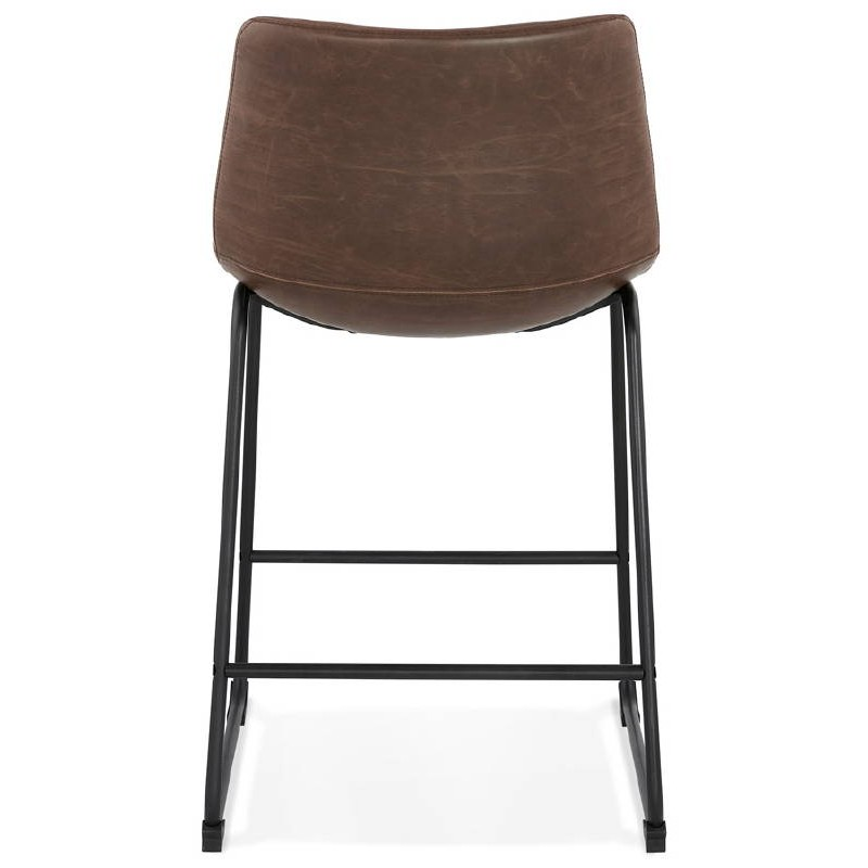 Tabouret de bar chaise de bar mi-hauteur vintage JOE MINI (marron) - image 37646
