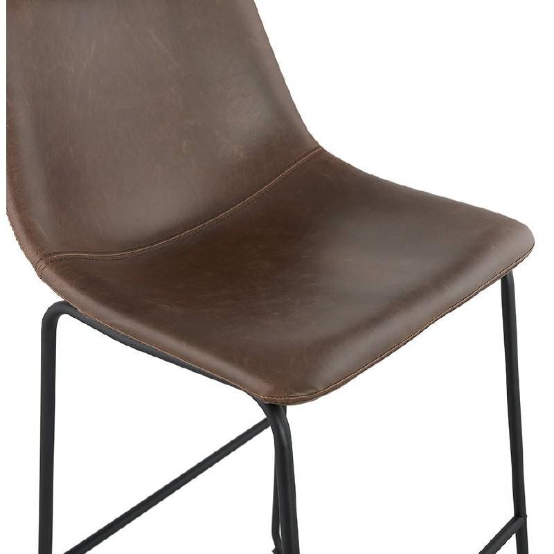 Tabouret de bar chaise de bar mi-hauteur vintage JOE MINI (marron) - image 37647