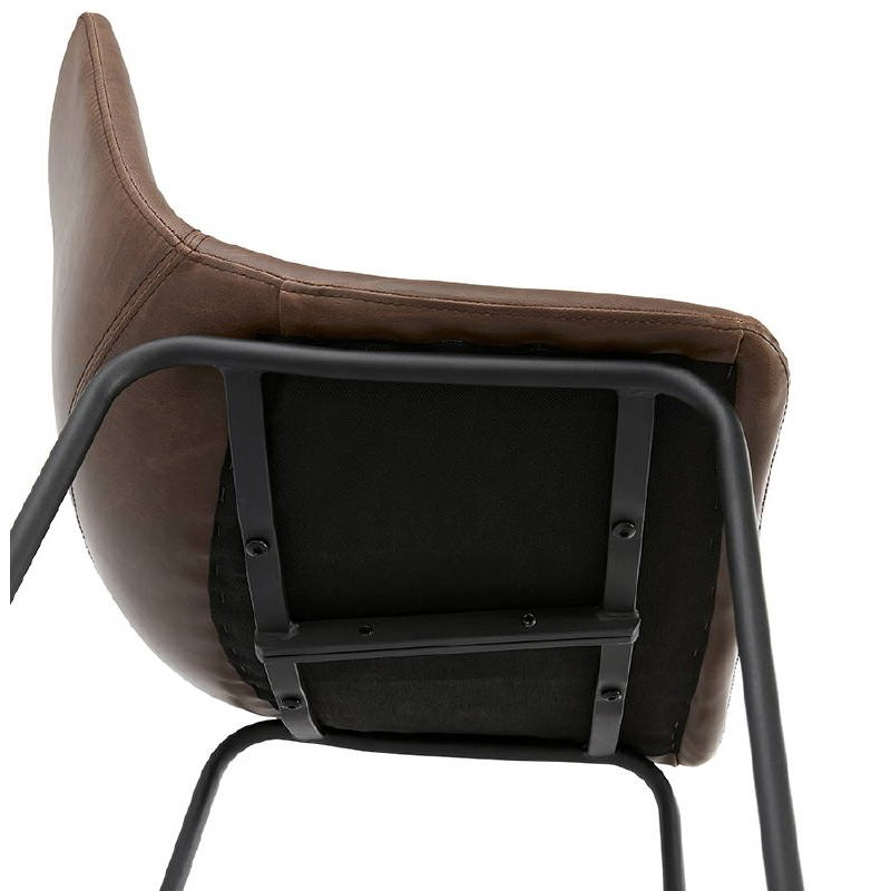 Tabouret de bar chaise de bar mi-hauteur vintage JOE MINI (marron) - image 37651