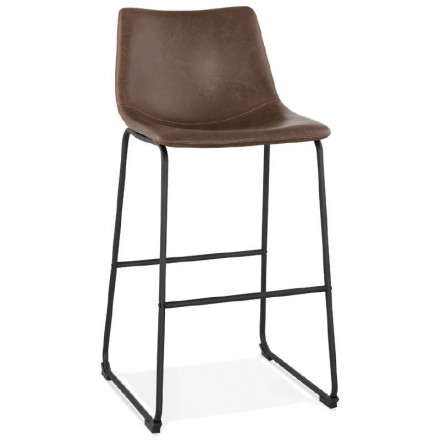 Tabouret de bar chaise de bar vintage JOE (marron)