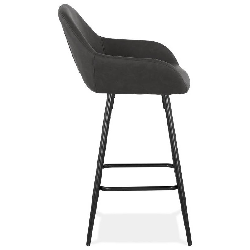 Sedia bar Sgabello da bar design metà altezza JOSEPH MINI (grigio scuro) - image 37665