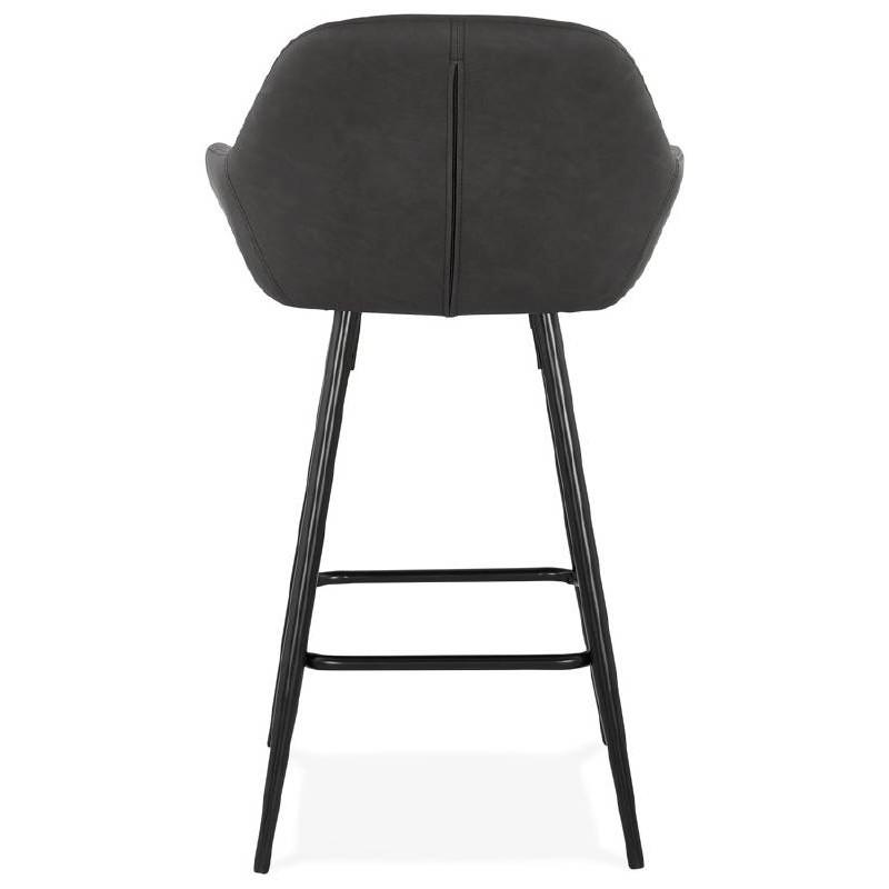Sedia bar Sgabello da bar design metà altezza JOSEPH MINI (grigio scuro) - image 37667