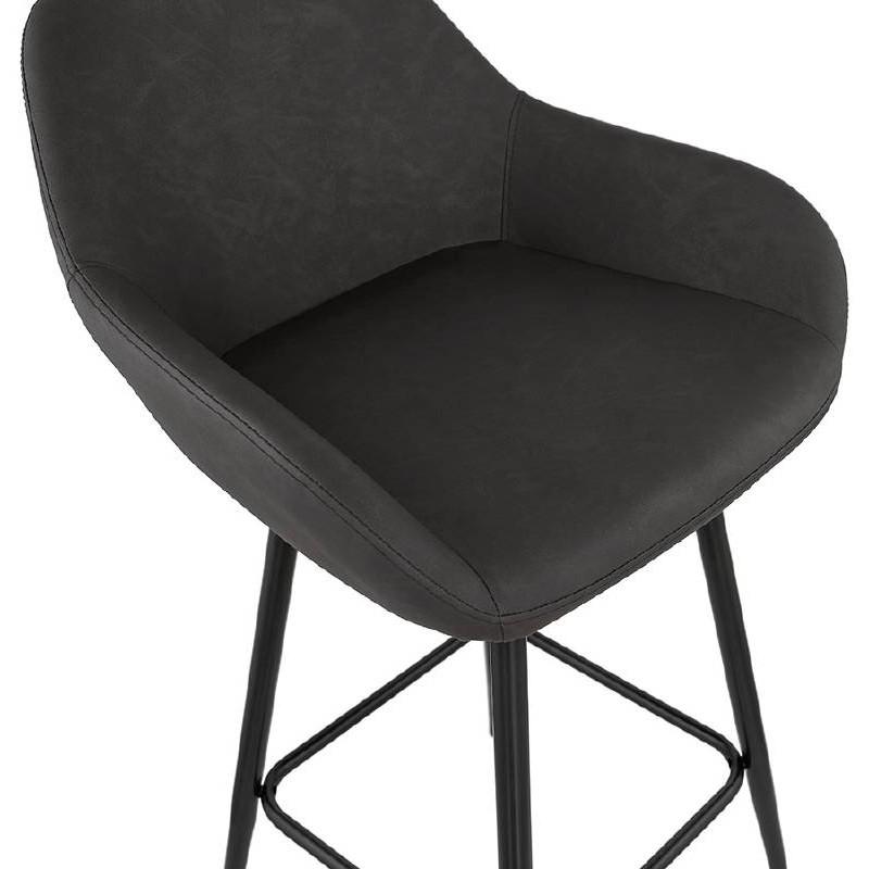 Sedia bar Sgabello da bar design metà altezza JOSEPH MINI (grigio scuro) - image 37668