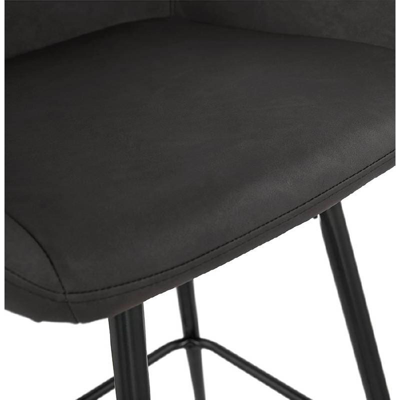 Sedia bar Sgabello da bar design metà altezza JOSEPH MINI (grigio scuro) - image 37669